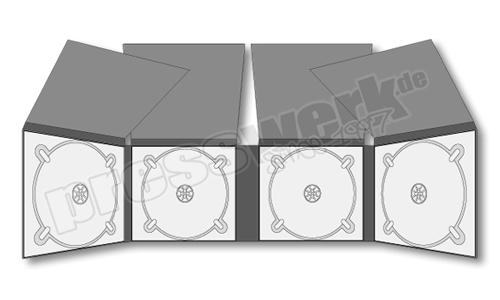 CD-KP-1015 | CD Digipack 8-seitig 4xCD 4xFlap