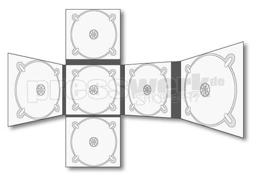 CD-KP-1019 | CD Digipack 12-seitig 6xCD CROSS