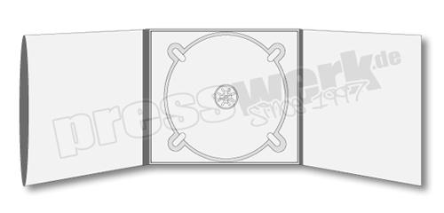 CD-KP-1049 | CD Digipack 6-seitig 1xTray mitte 1xBooklet-Sleeve links