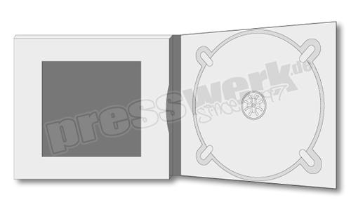 CD-KP-1053 | CD Digipack 4-seitig 1xTray rechts 1xBooklet-Window links