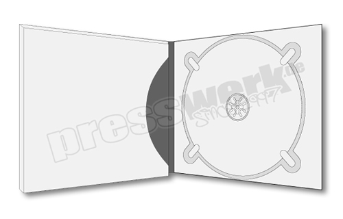 CD-KP-1055 | CD Digipack 4-seitig 1xTray rechts 1xBooklet-Pocket innen offen