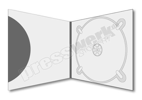 CD-KP-1057 | CD Digipack 4-seitig 1xTray rechts 1xBooklet-Pocket aussen offen