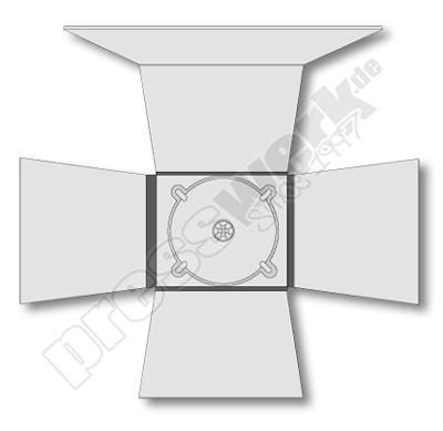 CD-KP-1061 | CD Digipack 12-seitig 1xTray mittig CROSS