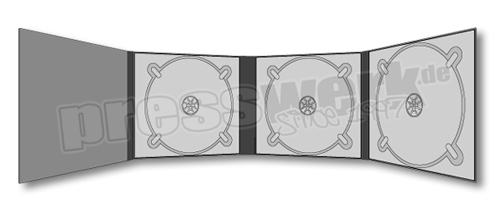 CD-KP-1065 | CD Digipack 8-seitig 3xTray