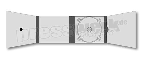 CD-KP-1073 | CD Digipack 8-seitig 1xTray 1 Pocket 1xPunkt