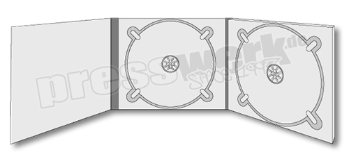 CD-KP-1083 | CD Digipack 6-seitig 2xCD mittig-rechts