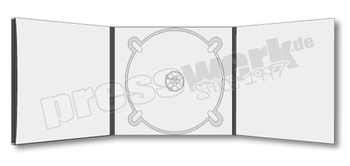 CD-KP-1085 | CD Digipack 6-seitig 1xCD mittig 1xBooklet-Pocket mit Rücken