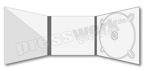 CD-KP-1001 | CD Digipack 6-seitig 1xCD rechts 1xBooklet-Pocket schräg