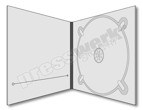 CD-KP-1097 | CD Digipack 4-seitig 1xCD rechts 1xBooklet Schlitz links