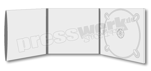 CD-KP-1103 | CD Digipack 6-seitig 1xCD rechts 1xBooklet Sleeve links